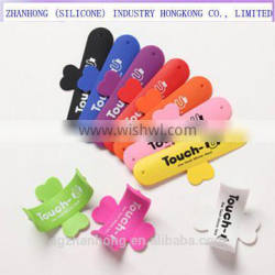 Custom color printing silicone mobile phone stand