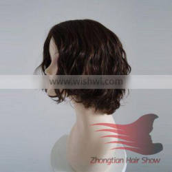 Wholesale Cheap Mongolian Virgin Human Jewish Black Short Curly Hair Wigs