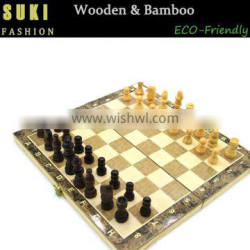 New design wooden chess game set for kids
