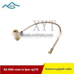 Factory Price RP SMA male Right Angle to Ipex/ufl RG178 RF coax cable