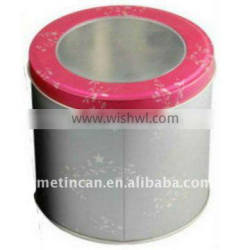round food safe tin box package
