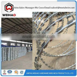 fastest delivery time selling razor barbed wire tel 008613731361119 razor wire