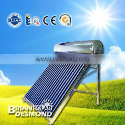High quality home using pressurized All glass solar water heater