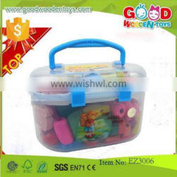 continued selling colorful wooden beads toys OEM kids educational big shape beads EZ3006