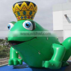 large Inflatable frog prince giant Inflatable frog Inflatable frog cold air balloon Inflatable animal