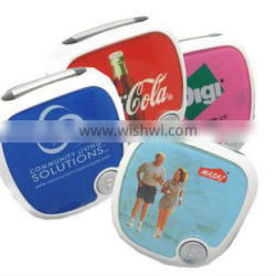 Acrylic step counter pedometer with larger logo space for promotion