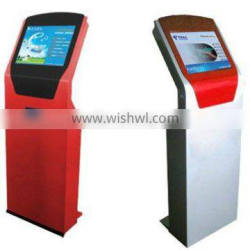 42 inch information search query machine kiosk touch screen standing player in shopping center/bank/commercial building