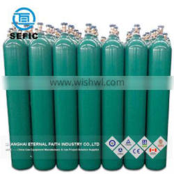 ISO9809-1 Standard Steel 13.4L Gas Cylinder Filled CO2, Oxygen, Argon, Nitrogen, Helium Gas