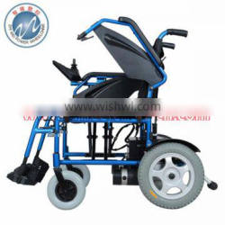 Aluminum Folding electric wheelchair with Lead acid battery