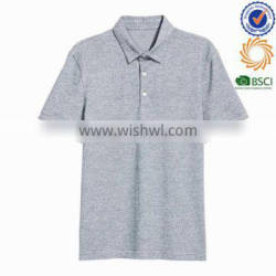 wholesale men's anti pilling cotton spadex polo shirt