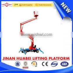 SQPT0.16-10 China high working performance self propelled articulated arm lifting platform
