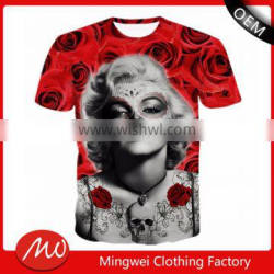 alibaba hot item wholesale full body girls print t-shirts with lowest price