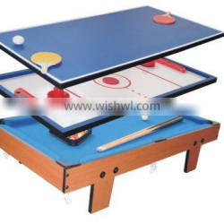 Wholesale 3 in 1 multi game table kids table top game table for sale