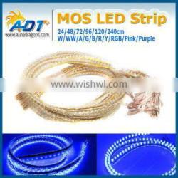 DC12v 120cm blue led flexible neon strip light for car
