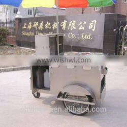 china ys made top sell, bicycle hotdog bike food cart 3 wheels and food cart with gas steamer