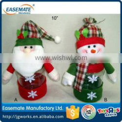 Newest Christmas toys Elderly snowman candy bottle for wholesale