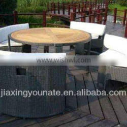 UNT-R-137 outdoor rattan dining table chair