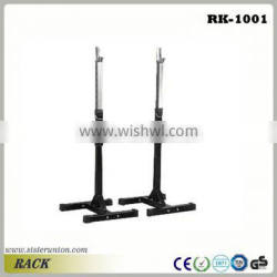 2X Adjustable Heavy Duty Gym Fitness Squat Barbell Power Rack Weight Bench Stand