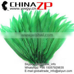 ZPDECOR Wholesale 50-55cm AAA Quality Dyed Green Silver Pheasant Tail Feathers