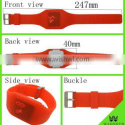 China factory any color with waterproof touch screen LED promotional silicone wrist watch