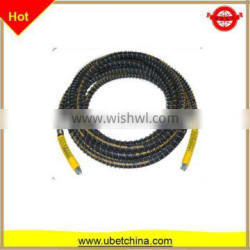 """DN 6 SAE100 R1AT 1/4"""" with nylon surface and sleeve hydraulic high pressure wire braided rubber hose"""