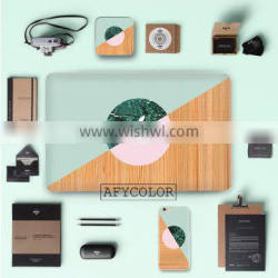 Factory wood grain design decorative skin stickers for Macbook air best quality