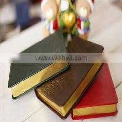 wholesale cheap custom printing mini blank page gold side for colorful Hardcover Notebook printing
