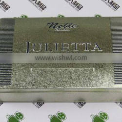 Empty Tinplate iron box metal case rectangle shape can for gift packaging
