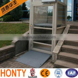 outdoor vertical 300kg obstacle-free home wheelchair lift with CE