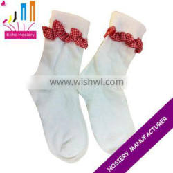 girl cotton socks with lace