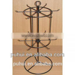 2 layer metal wire counter keyring stand with cheap price