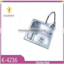 High quality single bowl stainless steel kitchen sink with Waterlet