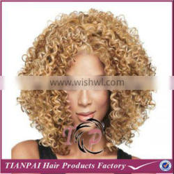 Full Lace Synthetic Wigs With Baby Hair, Heat Resistent Fiber Kinky Curl Black Blonde Dark Brown Hair Wigs for Black Women