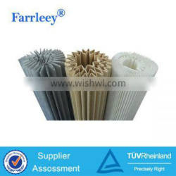 Industrial pleated paper air filtration