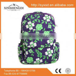 2016 wholesale cotton bright quilted hipster insulated custom backpack manufacturer