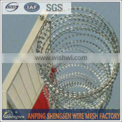 razor blade barbed wire from anping factory with ISO 9001 by CQC