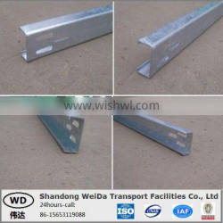 Galvanized C Section Post for Guardrail