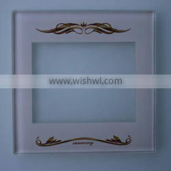 factory direct wall mounted Switch Tempered Glass