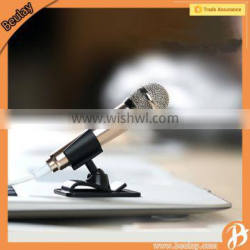 Remax 3.5mm wired clip mini sing song Karaoke microphone for iphone 6s mobile phone