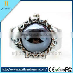 New Arrival Elegant Watch Black Pearl Ring Finger Ring Watch