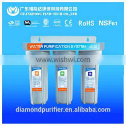 3 stages simple water filter without RO