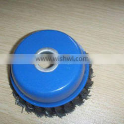 twisted knot blue cup brush with hole 16mm