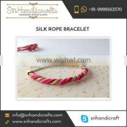 Widely Selling Attractive Silk Rope Bracelet at Wholesale Rate