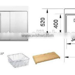 POATS PS-803 Stainless Steel Sink Size: 1160X520X200mm