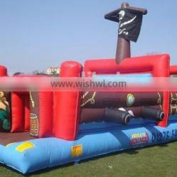 2015 Popular Children castle pirate ship, amusing bouncy castle pirate ship