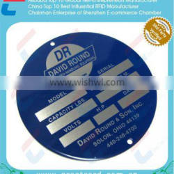 Round aluminum business plate/Engraved metal card