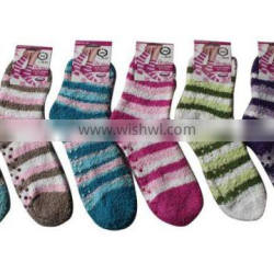 Hot sale popular Lady's Microfiber Antiskid Socks Warm socks for winter