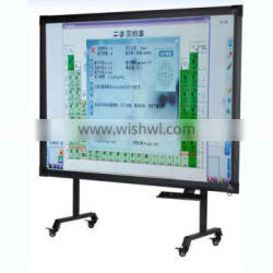 Movable 104inch finger touch interactive whiteboard, multi touch smart board wireless USB