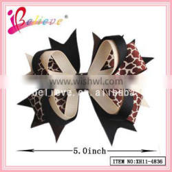 Fashion adult hair bows alligator clip,ribbon bow wholesale hunting triangle bow