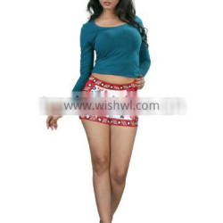 Cotton Twill Fabric short pant with nice embroidery